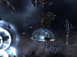 A Uni fleet completing a jump during the Dragonslayer op